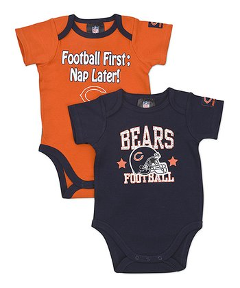 Navy & Orange Chicago Bears Bodysuit Set - Infant