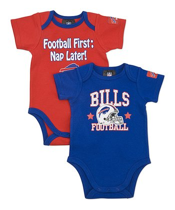 Blue & Red Buffalo Bills Bodysuit Set - Infant