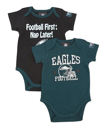 Green & Black Philadelphia Eagles Bodysuit Set - Infant