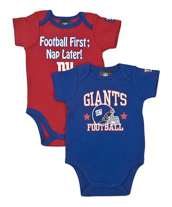 Blue & Red New York Giants Bodysuit Set - Infant