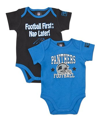 Blue & Black Carolina Panthers Bodysuit Set - Infant