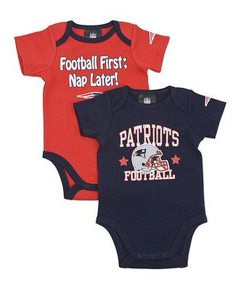 New England Patriots Short-Sleeve Bodysuit Set - Infant