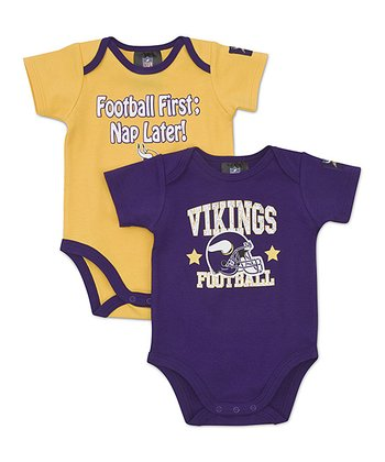 Purple & Gold Minnesota Vikings Bodysuit Set - Infant
