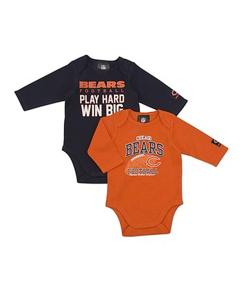 Chicago Bears Long-Sleeve Bodysuit Set - Infant
