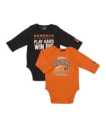 Cincinnati Bengals Long-Sleeve Bodysuit Set - Infant