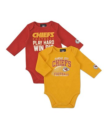 Kansas City Chiefs Long-Sleeve Bodysuit Set - Infant
