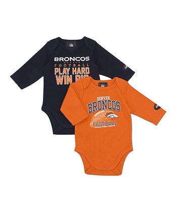Denver Broncos Long-Sleeve Bodysuit Set - Infant