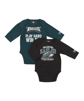Philadelphia Eagles Long-Sleeve Bodysuit Set - Infant