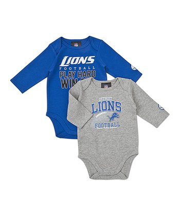 Detroit Lions Long-Sleeve Bodysuit Set - Infant