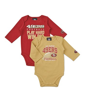 San Francisco 49ers Long-Sleeve Bodysuit Set - Infant