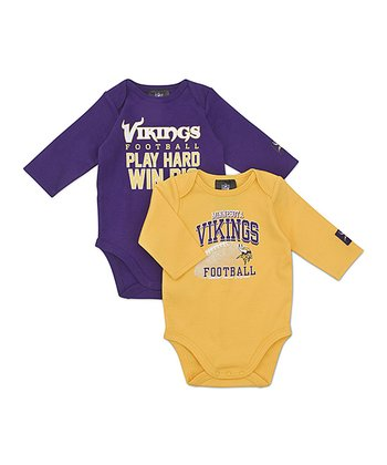 Minnesota Vikings Long-Sleeve Bodysuit Set - Infant