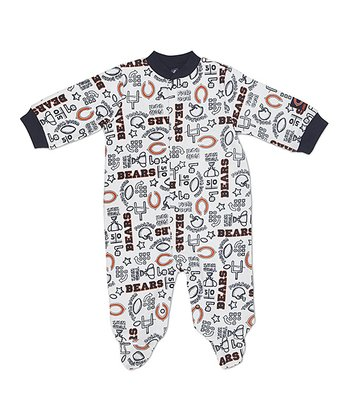 White Chicago Bears Footie - Infant
