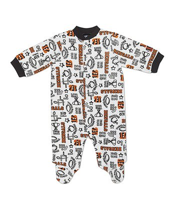 White Cincinnati Bengals Footie - Infant
