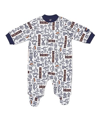 White Denver Broncos Footie - Infant