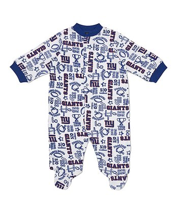 White New York Giants Footie - Infant