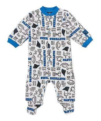 White Carolina Panthers Footie - Infant