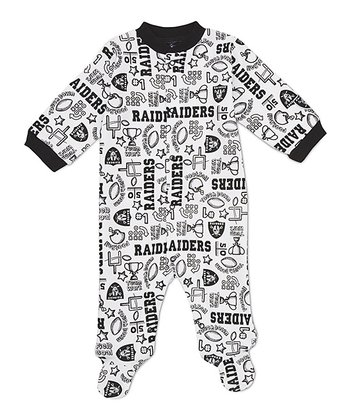 White Oakland Raiders Footie - Infant