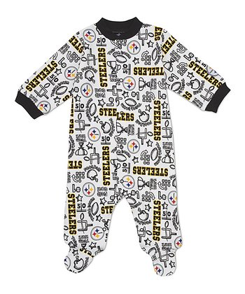 White Pittsburgh Steelers Footie - Infant
