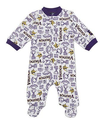 White Minnesota Vikings Footie - Infant