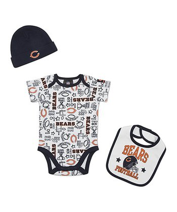 White Chicago Bears Layette Set - Infant