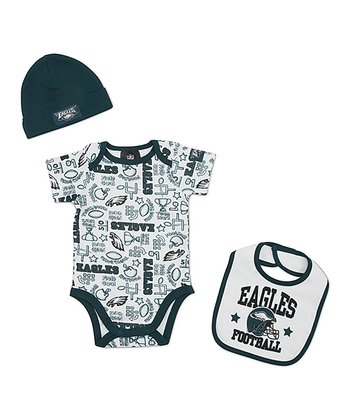 White Philadelphia Eagles Layette Set - Infant