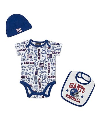 White New York Giants Layette Set - Infant