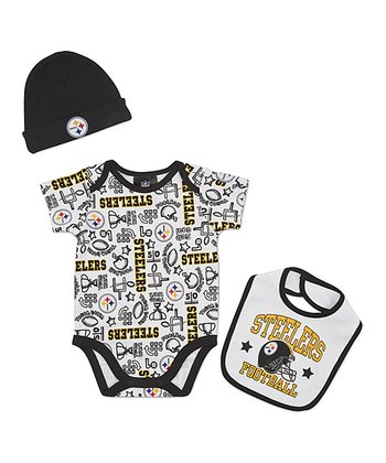 White Pittsburgh Steelers Layette Set - Infant