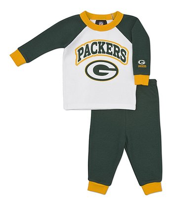 Yellow Green Bay Packers Raglan Tee & Pants - Infant & Toddler