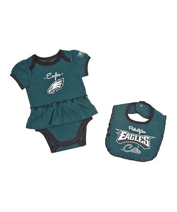 Philadelphia Eagles Skirted Bodysuit & Bib - Infant