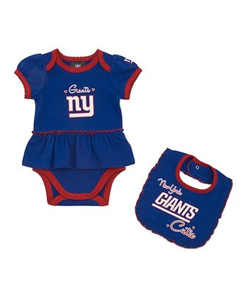 New York Giants Skirted Bodysuit & Bib - Infant