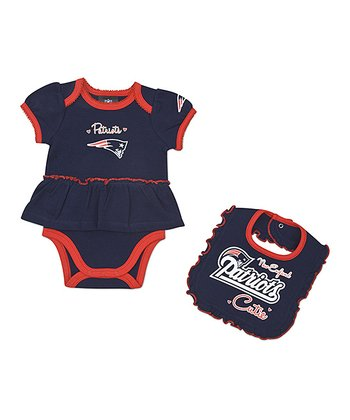 New England Patriots Skirted Bodysuit & Bib - Infant