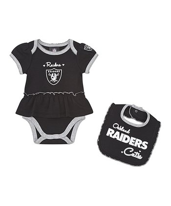 Oakland Raiders Skirted Bodysuit & Bib - Infant