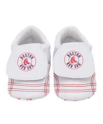 Boston Red Sox White & Red Sports Bootie - Kids