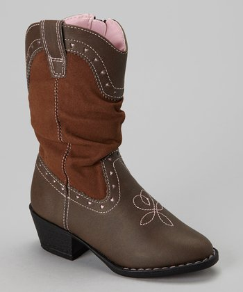 Brown El Paso Cowboy Boot