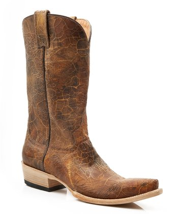 Brown Lake Crackle Cowboy Boot - Women