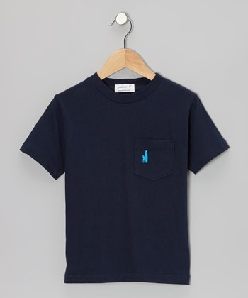 Navy Pocket Tee - Boys
