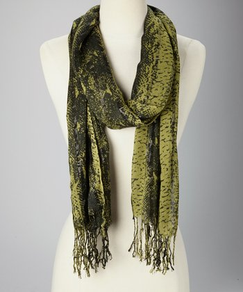 Green & Black Jungle Scarf
