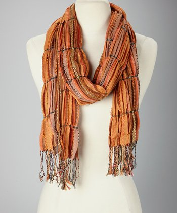 Orange Wisp Scarf