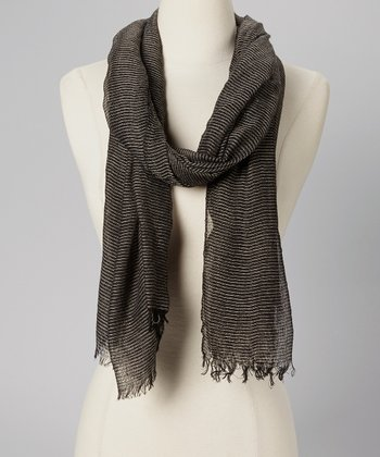 Black Bright Shock Stripe Scarf