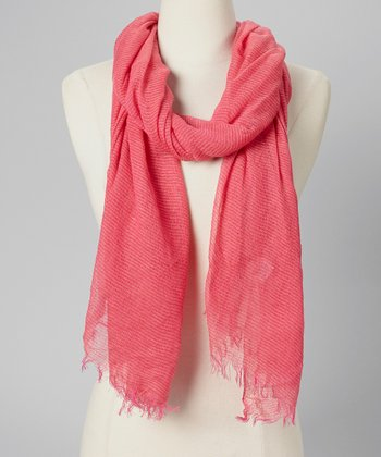 Sunrise Citrus Bright Shock Stripe Scarf
