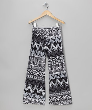 Black & White Tribal Palazzo Pants