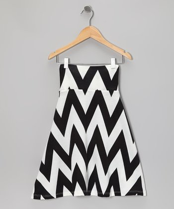 Black & White Zigzag Skirt