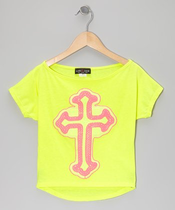 Yellow & Pink Cross Tee