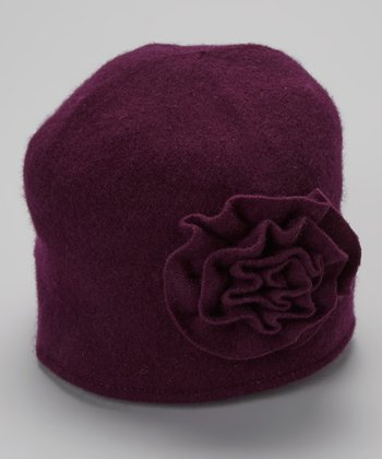 Purple Boiled Wool-Blend Beanie
