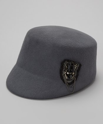 Gray Wool Chain Cadet Hat