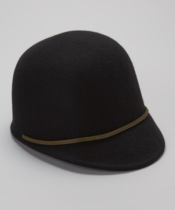 Black Wool Riding Hat