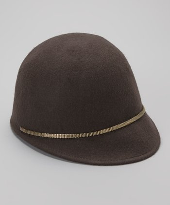 Gray Wool Riding Hat
