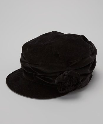 Black Velvet Cadet Hat