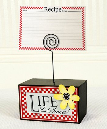 'Life Is Sweet' Recipe Card Holder