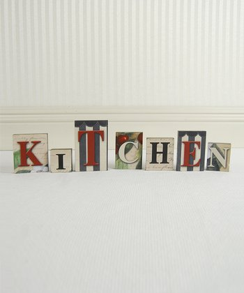 'Kitchen' Letter Wood Block Set